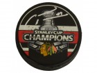 Marian Hossa Signed Blackhawks Stanley Cup Champs Logo Hockey Puck