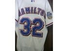 Josh Hamilton (Texas Rangers) Signed Authentic Rangers Jersey With Wold Series Patch