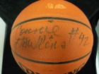 Connie Hawkins Signed Spalding Indoor / Outdoor Basketball (Light Damaged To Ball)