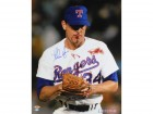 Nolan Ryan Autographed Texas Rangers 16X20 Photo With Bloody Lip