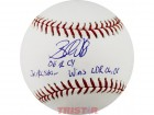Brandon Webb Autographed Mlb Baseball Inscribed 06 Nl Cy, Wins Ldr 06, 08, 3X All Star