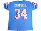 Earl Campbell Autographed Blue Custom Jersey