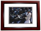 Ichiro Suzuki Signed - Autographed Seattle Mariners 8x10 inch Photo MAHOGANY CUSTOM FRAME - Guaranteed to pass PSA or JSA