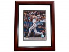 Joe Charboneau Signed - Autographed Cleveland Indians 8x10 inch Photo MAHOGANY CUSTOM FRAME - Guaranteed to pass PSA or JSA with 1980 Rookie Of The Year Inscription