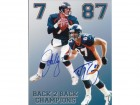 John Elway and Ed McCaffrey DUAL Signed - Autographed Denver Broncos 8x10 inch Photo - Guaranteed to pass PSA or JSA