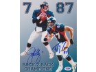 John Elway and Ed McCaffrey DUAL Signed - Autographed Denver Broncos 8x10 Photo - PSA/DNA Authenticated
