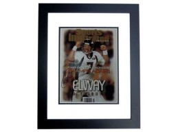 John Elway Signed - Autographed Denver Broncos 11x14 inch Photo BLACK CUSTOM FRAME - Guaranteed to pass PSA or JSA