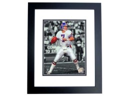 John Elway Unsigned Denver Broncos Throwback 8x10 inch SPOTLIGHT Photo BLACK CUSTOM FRAME