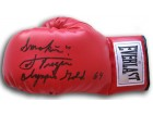 JOE FRAZIER SIGNED EVERLAST BOXING GLOVE (SMOKIN JOE FRAZIER - OLYMPIC GOLD 64)