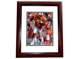 Josh Freeman Signed - Autographed Tampa Bay Buccaneers - Tampa Bay Bucs 11x14 Throwback Photo - MAHOGANY CUSTOM FRAME - Guaranteed to pass PSA or JSA - Sports Memorabilia.com Certificate of Authenticity (COA)