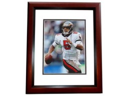 Josh Freeman Signed - Autographed Tampa Bay Buccaneers - Tampa Bay Bucs 8x10 inch Photo MAHOGANY CUSTOM FRAME - Guaranteed to pass PSA or JSA