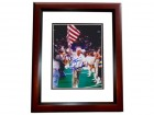 Jim Hanifan Signed - Autographed St Louis Rams 8x10 inch Photo MAHOGANY CUSTOM FRAME - Guaranteed to pass PSA or JSA