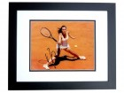 Jelena Jankovic Signed - Autographed Tennis 8x10 inch Photo - BLACK CUSTOM FRAME - JSA Certificate of Authenticity (COA)