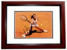 Jelena Jankovic Signed - Autographed Tennis 8x10 inch Photo - MAHOGANY CUSTOM FRAME - JSA Certificate of Authenticity (COA)