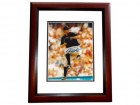 Josh Johnson Signed - Autographed Florida Marlins 8x10 inch Photo MAHOGANY CUSTOM FRAME - Guaranteed to pass PSA or JSA