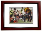 Johnny Knox Signed - Autographed Chicago Bears 8x10 inch Photo MAHOGANY CUSTOM FRAME - Guaranteed to pass PSA or JSA