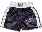 Jake Lamotta Signed Everlast Black Satin Trunks