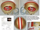 Joe Montana and Jerry Rice Signed - Autographed San Francisco 49ers Authentic Full Size Proline Helmet - FULL JSA Letter of Authenticity