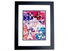 Discounted - Joe Montana Signed - Autographed San Francisco 49ers 8x10 inch Photo - BLACK CUSTOM FRAME - QB's of the Century - Smudged - Guaranteed to pass PSA or JSA