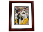 John Navarre Signed - Autographed Michigan Wolverines 8x10 inch Photo MAHOGANY CUSTOM FRAME - Guaranteed to pass PSA or JSA