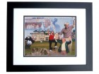 Jack Nicklaus Unsigned Golf 8x10 inch Collage Photo BLACK CUSTOM FRAME