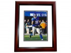 Jason Pierre-Paul Signed - Autographed New York Giants 8x10 inch Photo MAHOGANY CUSTOM FRAME - Guaranteed to pass PSA or JSA - XLVI Super Bowl champion