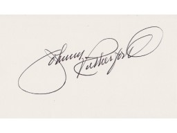 Johnny Rutherford Signed - Autographed 3x5 inch Card - Guaranteed to pass PSA or JSA - Race Car Driver