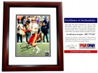 Joe Theismann Signed - Autographed Washington Redskins 8x10 inch Photo MAHOGANY CUSTOM FRAME - PSA/DNA Certificate of Authenticity (COA)