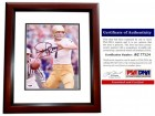 Joe Theismann Signed - Autographed Notre Dame Fighting Irish 8x10 inch Photo MAHOGANY CUSTOM FRAME - PSA/DNA Certificate of Authenticity (COA)