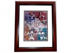Johnny Unitas Signed - Autographed Baltimore Colts 8x10 inch Photo MAHOGANY CUSTOM FRAME (with Dan Marino, Joe Montana, and John Elway)