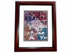 Johnny Unitas Signed - Autographed Baltimore Colts 8x10 Photo MAHOGANY CUSTOM FRAME (with Dan Marino, Joe Montana, and John Elway)