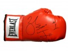 Zab Judah Signed Everlast Red Boxing Glove w/Super