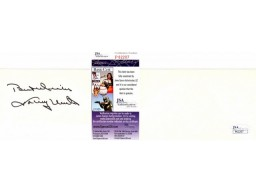 Johnny Unitas Signed - Autographed Baltimore Colts Vintage 3x5 Inch Index Card - Deceased 2002 - JSA Certificate of Authenticity