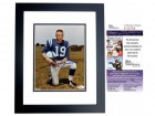 Johnny Unitas Signed - Autographed Baltimore Colts 8x10 inch Photo BLACK CUSTOM FRAME - Deceased 2002 - JSA Certificate of Authenticity
