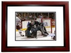 Jean-Sebastien Giguere Signed - Autographed Anaheim Ducks 8x10 inch Photo MAHOGANY CUSTOM FRAME - Guaranteed to pass PSA or JSA