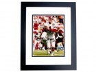 Jeff George Signed - Autographed Atlanta Falcons 8x10 inch Photo BLACK CUSTOM FRAME - Guaranteed to pass PSA or JSA
