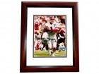 Jeff George Signed - Autographed Atlanta Falcons 8x10 inch Photo MAHOGANY CUSTOM FRAME - Guaranteed to pass PSA or JSA