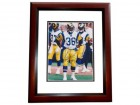 Jerome Bettis Signed - Autographed Los Angeles Rams 8x10 inch Photo MAHOGANY CUSTOM FRAME - Guaranteed to pass PSA or JSA