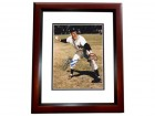Jerry Coleman Signed - Autographed New York Yankees 8x10 inch Photo MAHOGANY CUSTOM FRAME - Guaranteed to pass PSA or JSA