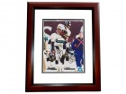 Jimmy Smith Autographed Jacksonville Jaguars 8x10 Photo MAHOGANY CUSTOM FRAME