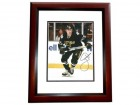 Joe Nieuendyck Autographed Stars 8x10 Photo MAHOGANY CUSTOM FRAME