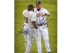 Chipper / Fielder, Prince Jones Signed 8x10 Photo by Chipper Jones & Prince Fielder