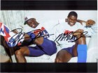 Michael / Johnson, Magic Jordan Signed 8x10 Photo by Michael Jordan and Magic Johnson