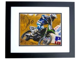 Josh Grant Signed - Autographed Motocross 8x10 inch Photo BLACK CUSTOM FRAME - Guaranteed to pass PSA or JSA