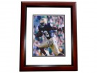 Julius Jones Signed - Autographed Notre Dame Fighting Irish 8x10 inch Photo MAHOGANY CUSTOM FRAME - Guaranteed to pass PSA or JSA