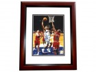 Juwan Howard Signed - Autographed Washington Wizards 8x10 inch Photo MAHOGANY CUSTOM FRAME - Guaranteed to pass PSA or JSA