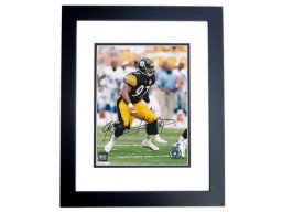 Kendrell Bell Signed - Autographed Pittsburgh Steelers 8x10 inch Photo BLACK CUSTOM FRAME - Guaranteed to pass PSA or JSA - 2001 Rookie of the Year