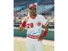 Kal Daniels Signed - Autographed Cincinnatti Reds 8x10 inch Photo - Guaranteed to pass PSA or JSA