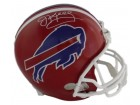Jim Kelly Autographed Buffalo Bills Full Size Replica Helmet Name Only in White JSA