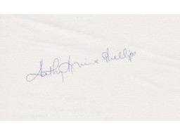 Kathy Kreiner Phillips Signed - Autographed Olympic Canadian Alpine Ski Racer 3x5 Inch Index Card - Guaranteed to pass PSA or JSA - 1976 Gold Olympic Medalist